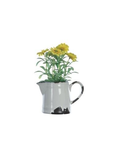 Warm Design Seramik Sürahide Yapay Çiçek Renkli